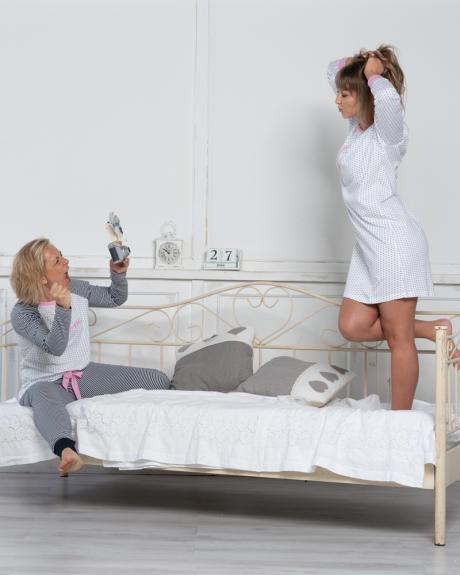 Comazo Lieblingswäsche Damen Nachthemd in weiss/marine