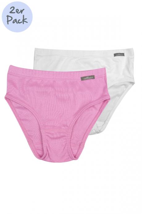 Comazo Lieblingswäsche Mädchen Slip in weiss/rosa