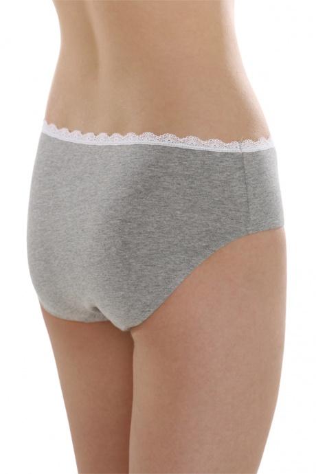 Comazo Unterwäsche, Slip für Mädchen in grau-melange - Rückansicht