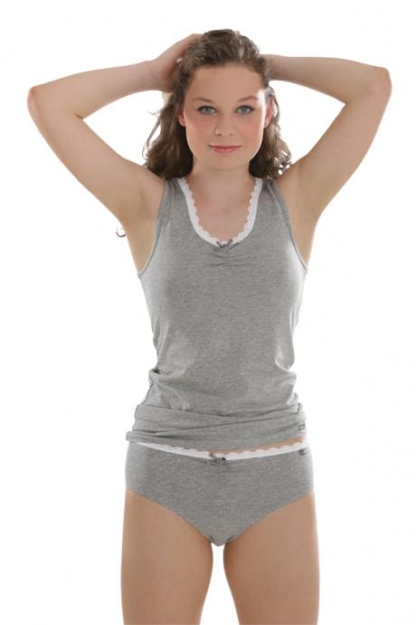 Comazo Unterwäsche, Slip für Mädchen in grau-melange - Geesamtansicht