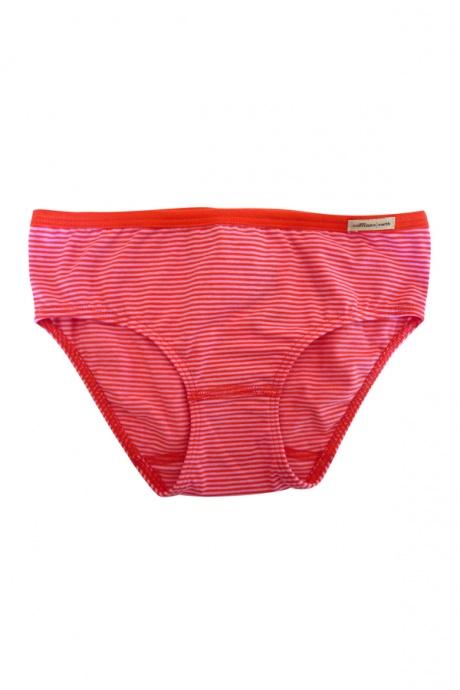 Comazo Biowäsche, Slip für Mädchen, tomate geringelt - Vorderansicht