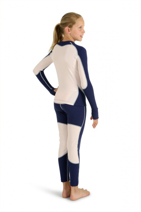 Comazo Lieblingswäsche, Unterhose lang für Mädchen in Nachtblau - Rückansicht