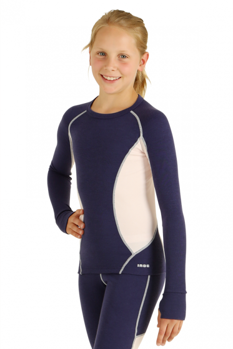 Comazo Lieblingswäsche, Shirt langarm für Mädchen in nachtblau - Gesamtansicht