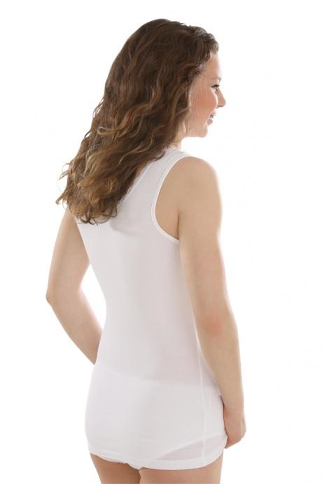 Comazo Unterwäsche, Unterhemd für Mädchen in weiss - Rückansicht
