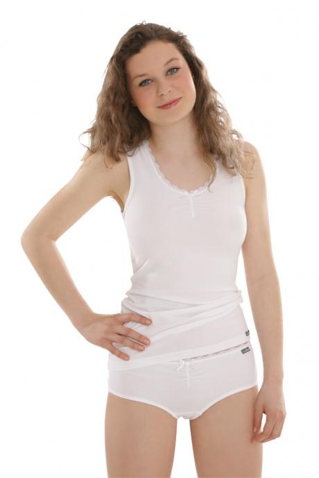 Comazo Unterwäsche, Unterhemd für Mädchen in weiss - Gesamtansicht