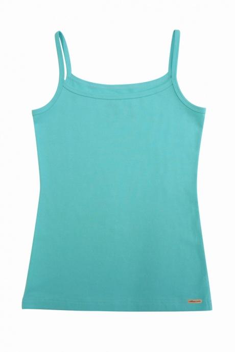Comazo Biowäsche, Unterhemd  für Mädchen in lagune - Vorderansicht