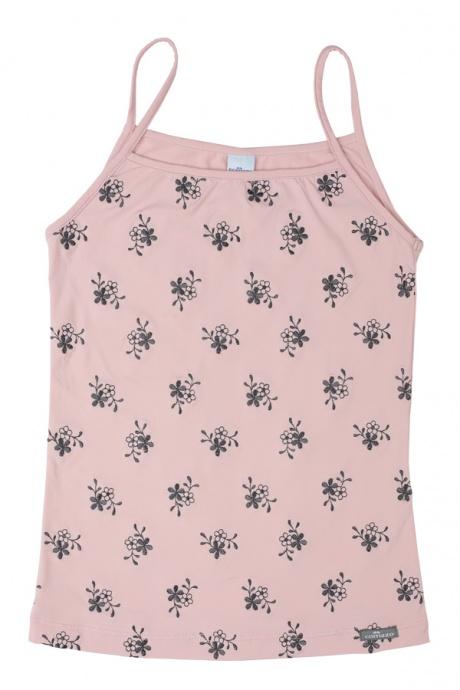 Comazo Unterwäsche, Spaghettiträgerhemd für Mädchen, rosenquarz