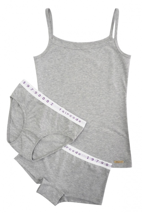 Comazo Biowäsche, Unterhemd  für Mädchen in grau-melange - Image