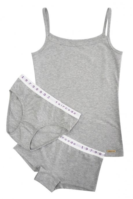 Comazo Biowäsche, Hot-Pants für Mädchen in grau-melange - Image