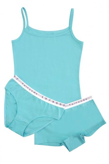 Comazo Biowäsche, Unterhemd  für Mädchen in lagune - Image