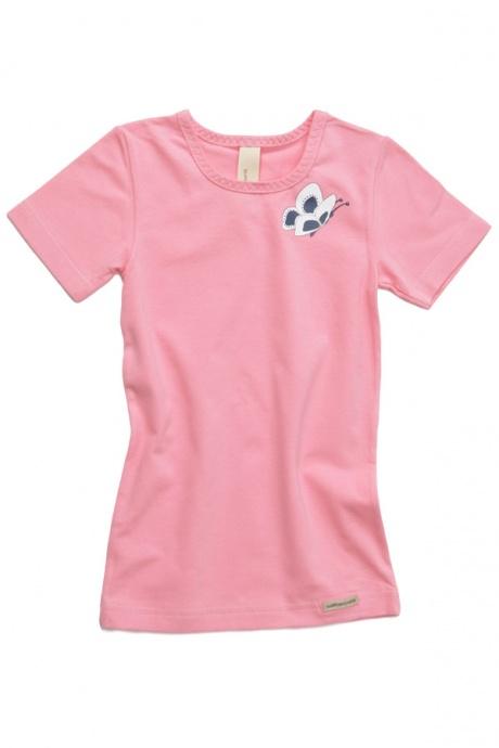 Comazo Biowäsche, Shirt für Mädchen im 3-er Pack in türkis, orange, anemone