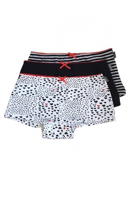 Comazo Lieblingswäsche Mädchen Hot Pants in schwarz-weiss