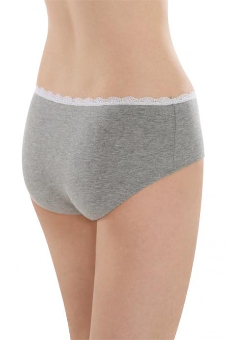 Comazo Unterwäsche, Hipster für Mädchen in grau-melange - Rückansicht