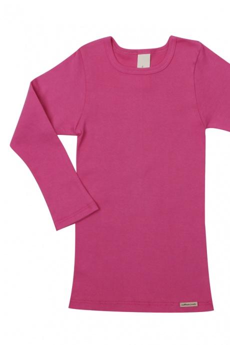 Comazo Biowäsche, Kindershirt langarm für Mädchen und Knaben in clematis - Vorderansicht