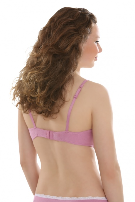 Comazo Unterwäsche, Schalen-BH für Mädchen in mauve - Rückansicht