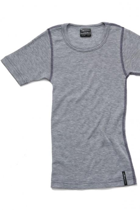 Comazo Funktionswäsche, Kurzarm Funktionsshirt in grau-melange - Vorderansicht