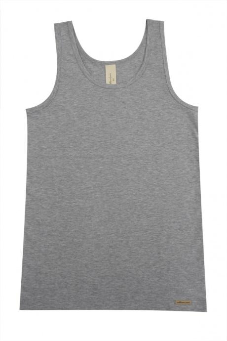 Comazo Biowäsche, Unterhemd für Jungen in grau-melange - Vorderansicht