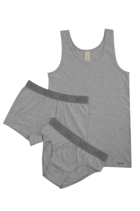 Comazo Biowäsche, Unterhemd für Jungen in grau-melange - Image