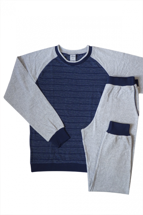 Comazo Nachtwäsche Jungen Pyjama in grau-melange