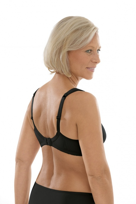 Comazo Unterwäsche, Komfort-BH für Damen in schwarz - Rückansicht