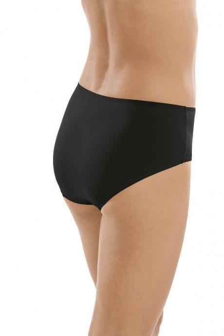 Comazo Unterwäsche, Komfort-Slip für Damen in schwarz - Rückansicht
