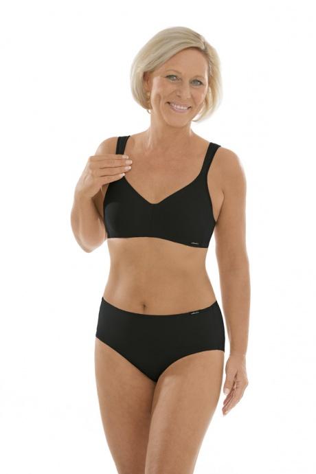 Comazo Unterwäsche, Komfort-Slip für Damen in schwarz - Gesamtansicht