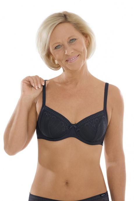 Comazo Unterwäsche, Bügel-BH für Damen in blackblue - Vorderansicht