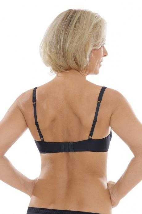 Comazo Unterwäsche, Bügel-BH für Damen in blackblue - Rückansicht
