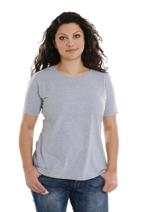 Comazo Lieblingswäsche Basic Shirt, grau-meliert - Vorderansicht