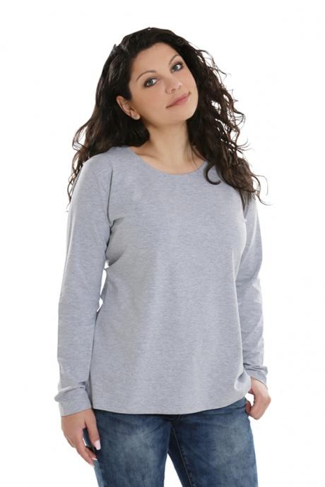 Comazo Lieblingswäsche Basic Shirt, grau-melange -Vorderansicht