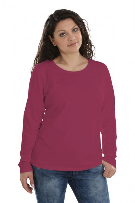 Comazo Lieblingswäsche Basic Shirt für Damen langarm in blue cherry