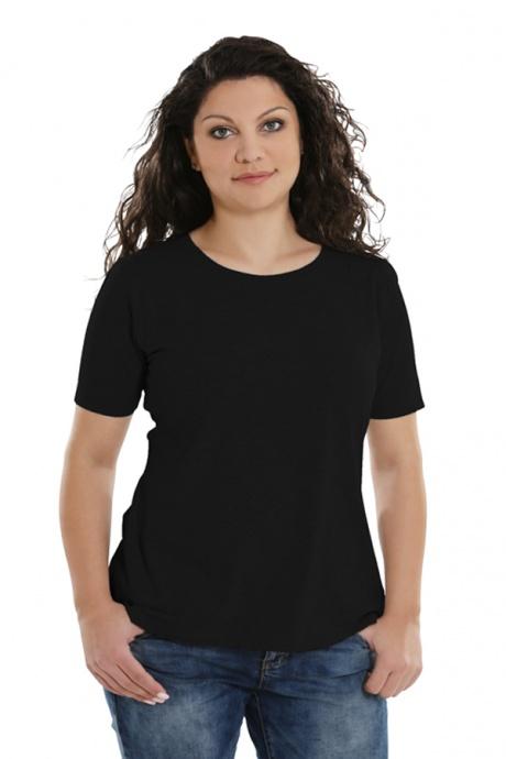 Comazo Lieblingswäsche Basic-Shirt,schwarz - Vorderansicht