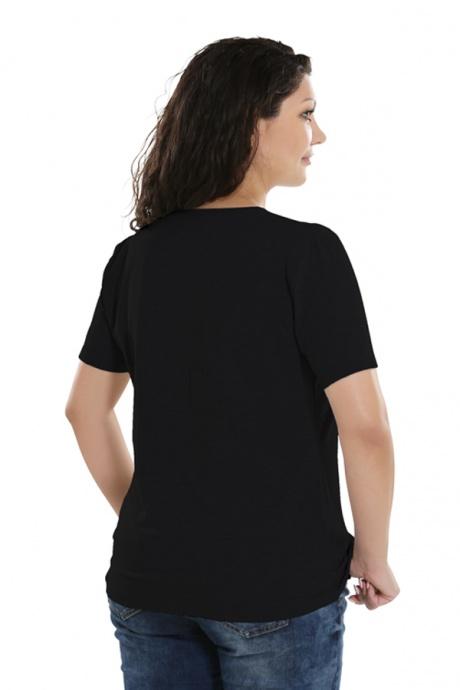 Comazo Lieblingswäsche Basic-Shirt,schwarz - Rückansicht