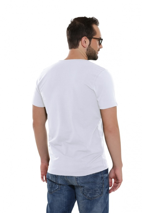 Comazo Lieblingswäsche Basic Shirt, weiss- Rückansicht