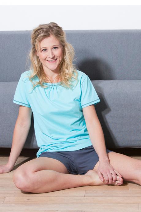 Comazo Biowäsche, Shirt kurzarm für Damen in lagune