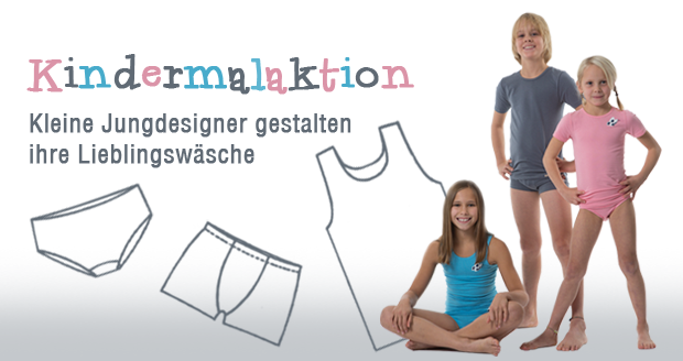 Kindermalaktion - Kleine Designer entwerfen ihre Lieblingswäsche
