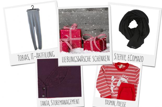 Wäsche zu Weihnachten verschenken - unsere Tipps