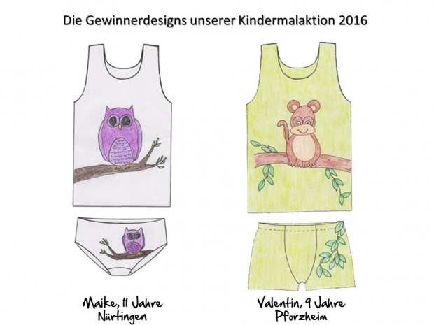 Comazo Kindermalaktion Gewinner Design