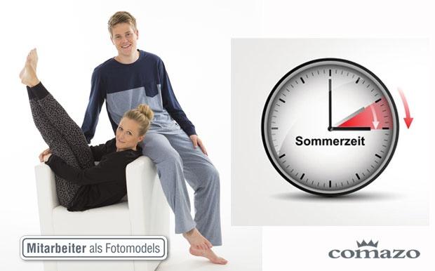Schlafanzug Comazo Zeitumstellung Sommerzeit