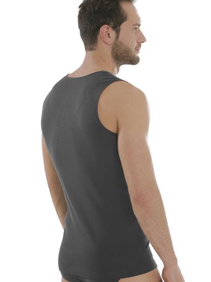 Comazo Biowäsche, Shirt für Männer, anthrazit - Rückansicht