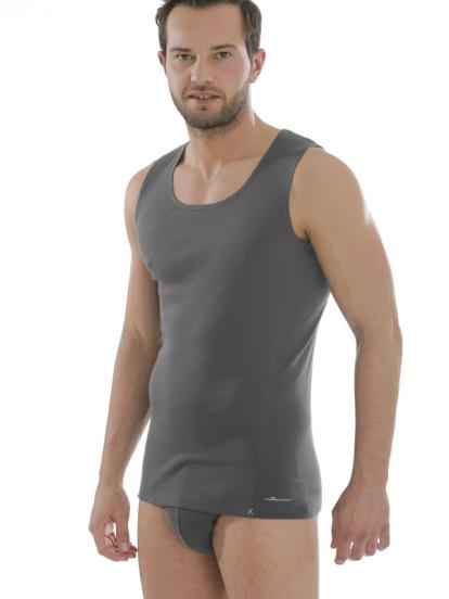 Comazo Biowäsche, Shirt für Männer, anthrazit - Gesamtansicht