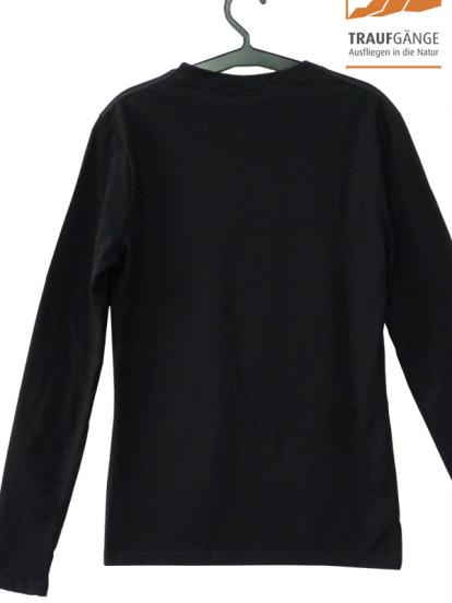 Comazo Biowäsche, Langarm Shirt für Damen in schwarz- Vorderansicht