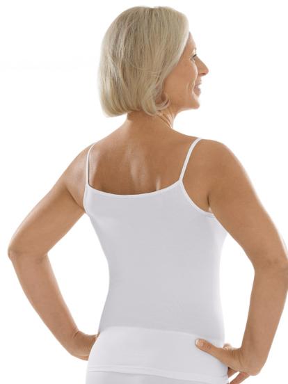 Comazo Unterwäsche, Spaghettiträger-Hemd für Damen in weiss - Rückansicht
