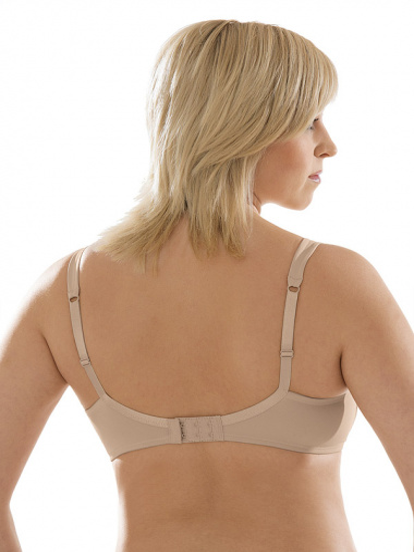 Comazo Unterwäsche, BH ohne Bügel für Damen in skin - Rückansicht