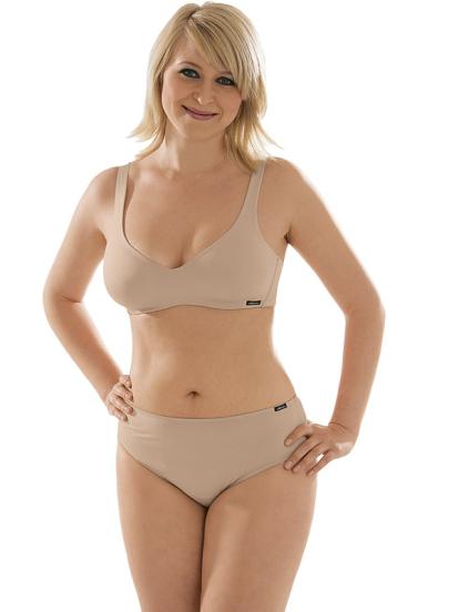 Comazo Unterwäsche, BH ohne Bügel für Damen in skin - Gesamtansicht