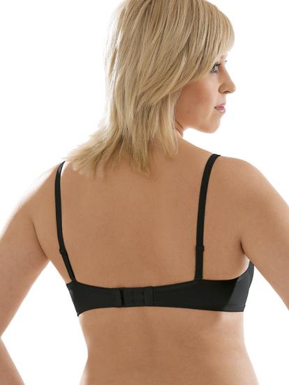 Comazo Unterwäsche, Push-Up BH für Damen in schwarz - Rückansicht