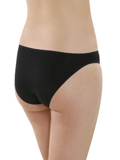 Comazo Unterwäsche, Mini-Slip für Damen in schwarz - Rückansicht