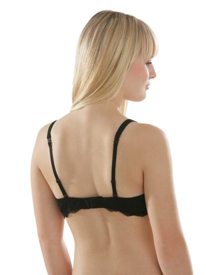 Comazo Unterwäsche, BH für Damen in schwarz- Rückansicht