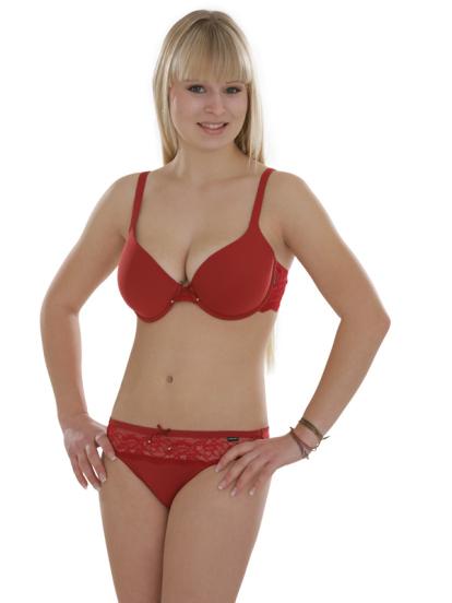 Comazo Unterwäsche, String für Damen in rot- Gesamtansicht