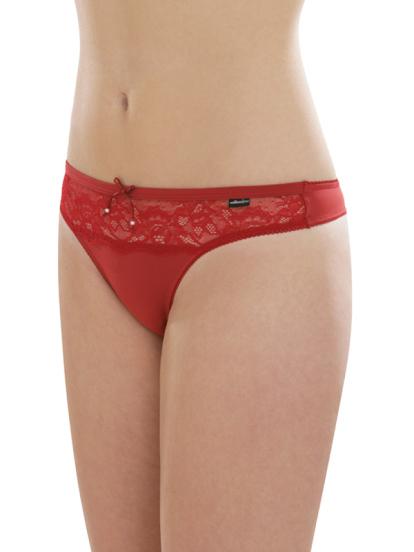 Comazo Unterwäsche, String für Damen in rot- Vorderansicht